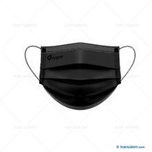 ماسک پزشکی مشکی سه لایه اکسیژن پلاس ( ۵۰ عدد )